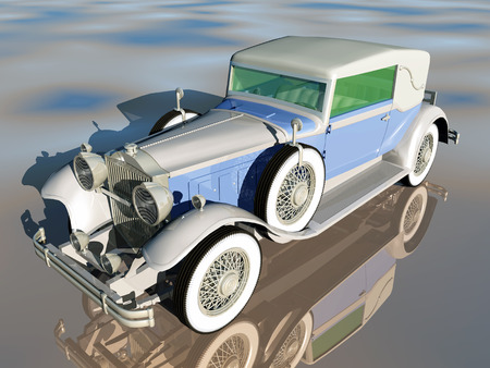 restored: American Automobil from the 1930s Stock Photo