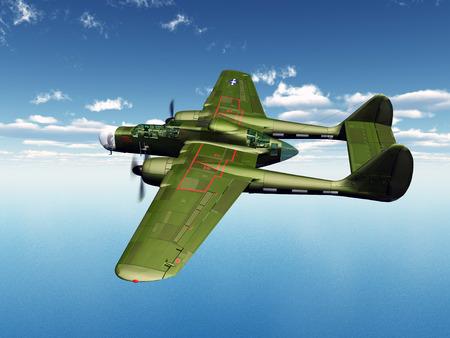 American Night Fighter de la seconde guerre mondiale Banque d'images