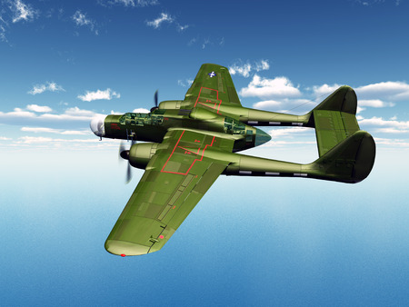 American Night Fighter from the second world war
