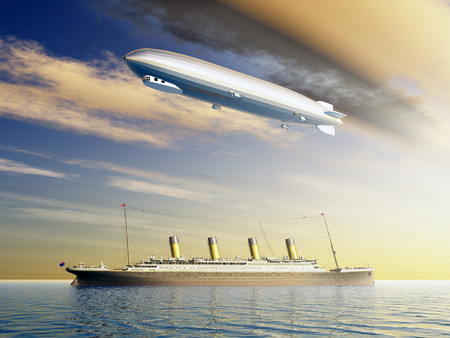 ocean liner: Airship and Ocean Liner