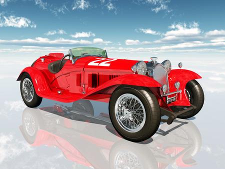 classic car: Italian Racing Car from the 1930s