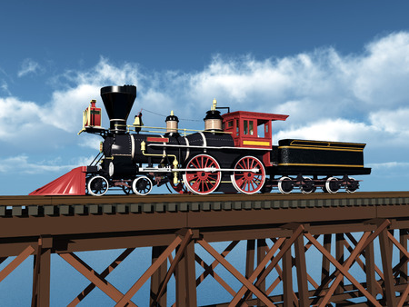 steam locomotive: American Steam Locomotive from the 1850s