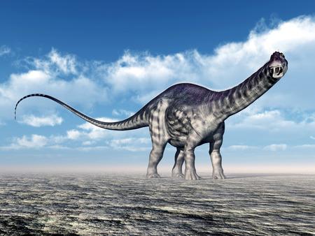 enormously: Dinosaur Apatosaurus Stock Photo