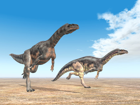 Plateosaurus Dinosaurs Stock Photo