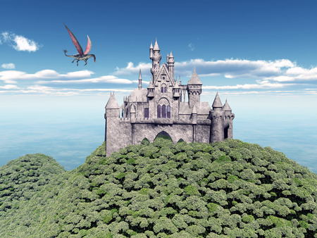 Castle and Flying Dragon photo