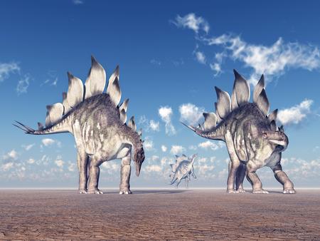 stegosaurus: Dinosaurio Stegosaurus Foto de archivo