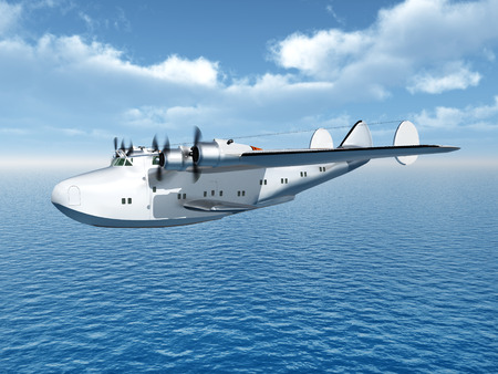 second world war: American Flying Boat Airliner from the second world war