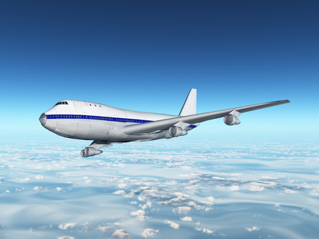 longing: Airliner Stock Photo