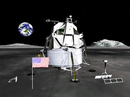 月着陸船 写真素材