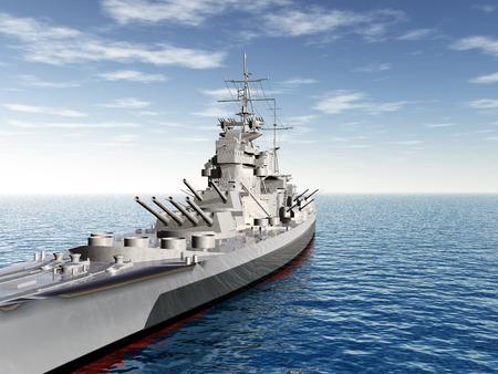 第二次世界大戦からのイギリスの軍艦王ジョージ 写真素材