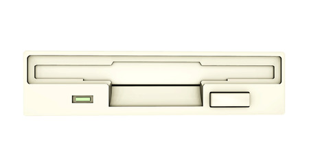 Floppy Drive isolated on white  Imagens