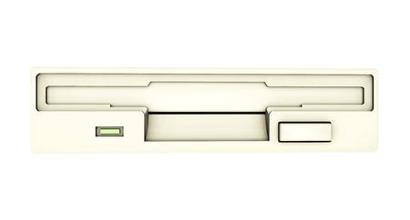 floppy drive: Floppy Drive isolated on white  Stock Photo