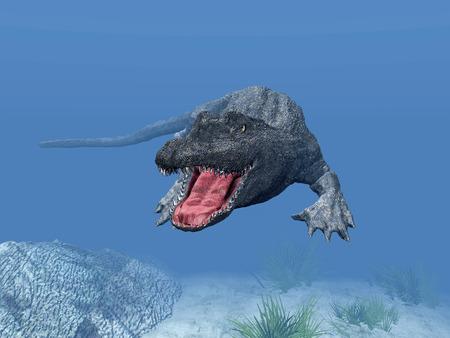 3d: 3d Crocodile