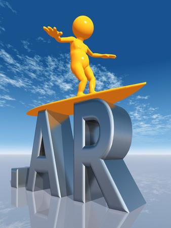 ar: AR Top Level Domain of Argentina Stock Photo