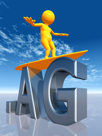 ag: AG Top Level Domain Stock Photo