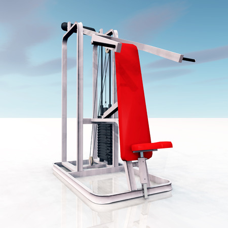 fat burning: 3D Fitness Device Stock Photo