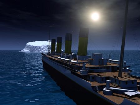 titanic: Titanic et l'iceberg Banque d'images