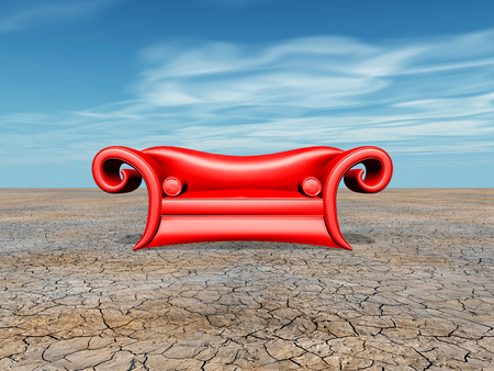 red couch: Red Couch Stock Photo