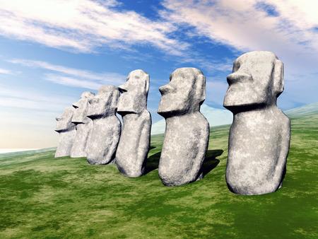 moai: Estatuas Moai