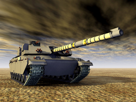 a tank: British Main Battle Tank