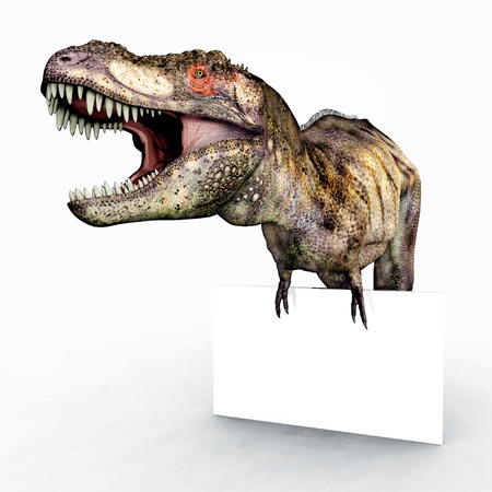 Tyrannosaurus Rex and Advertising Sign