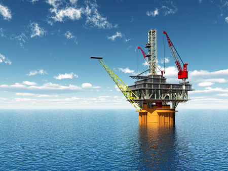 mineral oil: Oil Platform Stock Photo