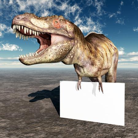tyrannosaurus: Tyrannosaurus Rex and Advertising Sign