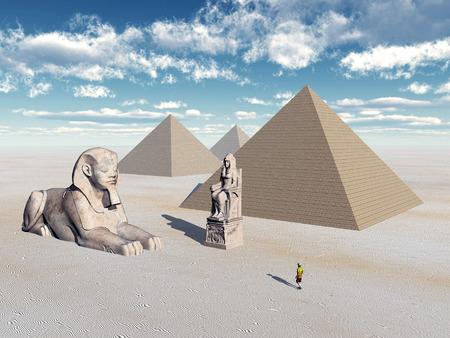 esfinge: Pirámides y estatuas egipcias