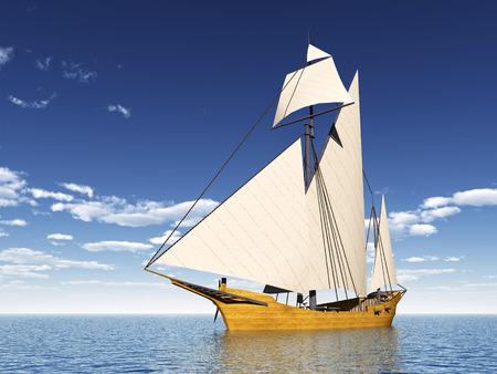 Caravel Ship Stock Photo
