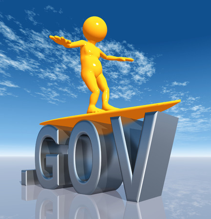 gov: GOV Top Level Domain Stock Photo