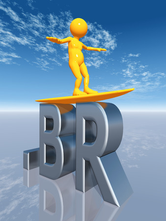 br: The letters BR for the Top Level Domain of Brazil