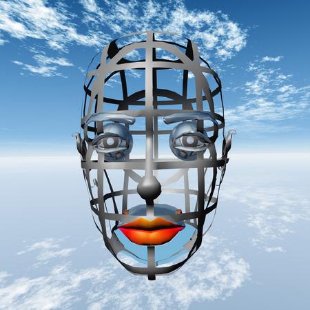 Artistic Skeleton of a Head Imagens