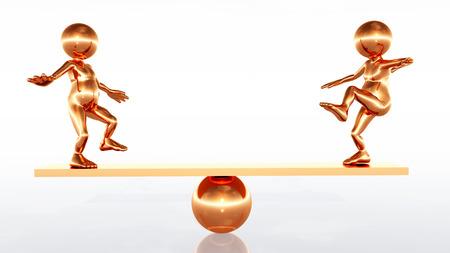 Balance Beam and Figures