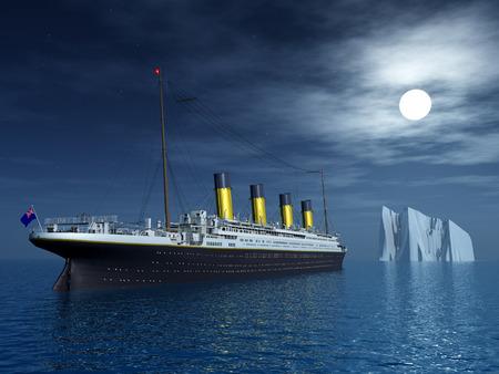 タイタニック号と氷山