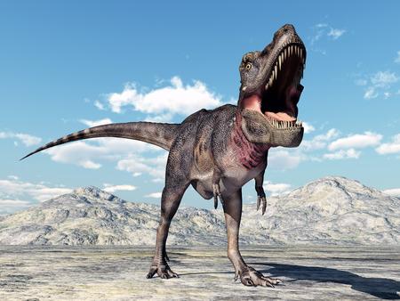 desert: Dinosaur Tarbosaurus