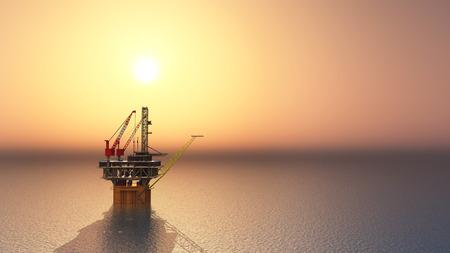 crude oil: Oil Platform Stock Photo
