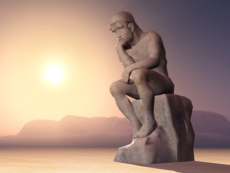sculpture: Thinker