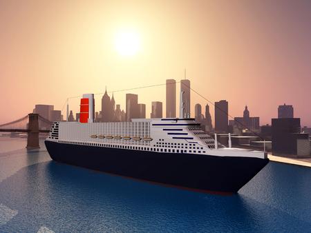 Lijnboot in New York Stockfoto