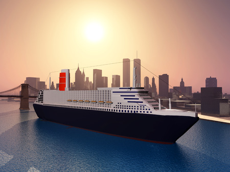 ocean liner: Ocean Liner in New York