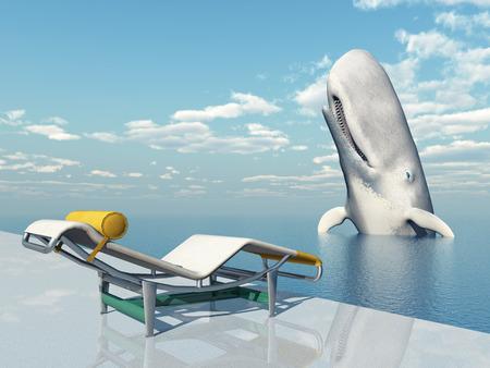 deck chair: Deck Chair and Sperm Whale