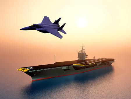 aircraft carrier: Aircraft Carrier and Combat Aircraft