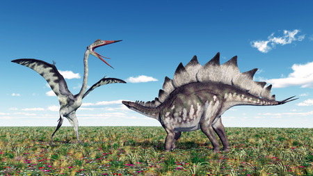 stegosaurus: The Pterosaur Quetzalcoatlus and the Dinosaur Stegosaurus