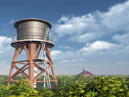 the water tower: Water Tower and Farm House