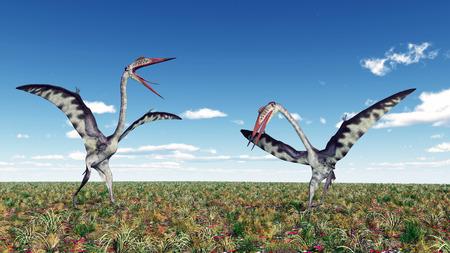 Pterosaur Quetzalcoatlus photo