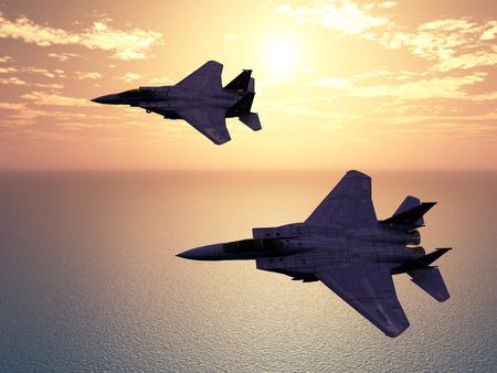 army: Combat Aircrafts Stock Photo