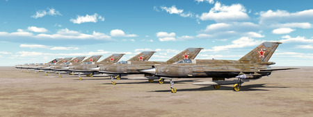cold war: Soviet supersonic jet fighter aircrafts of the cold war