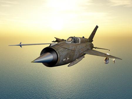 avion de chasse: Avions avion de chasse supersonique soviétique de la guerre froide Banque d'images