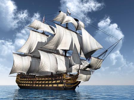 British Flagship HMS Victory Standard-Bild