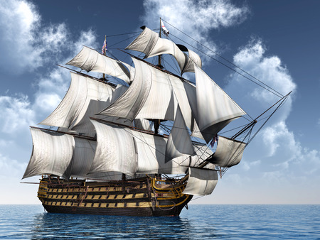 British Flagship HMS Victory Stock Photo