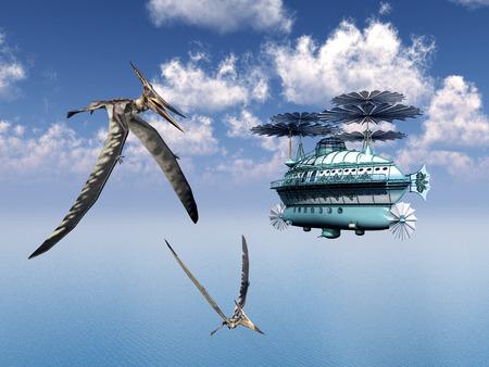 pteranodon: Fantasy Airship and the Pterosaur Pteranodon